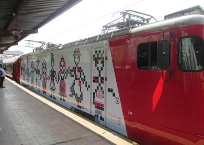 """Locomotiva HORA – prima galerie cu tradiție pleacă în călătorie cu """"Trenurile Soarelui"""""""