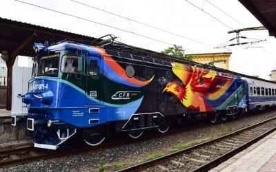 PASAREA MAIASTRĂ,  cea mai nouă locomotivă pictată cu materiale de la Policolor, a plecat în prima ei călătorie